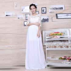 Ybc Women Elegant Long Dress Long Sleeve Formal Evening Party Gown White Intl Oem Cheap On China