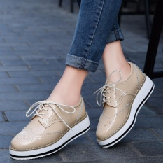 Deals For Yealon Shoes Woman Oxford Shoes For Women Designer Vintage Fashion Flat Shoes Round Toe Handmade Ballet Plataforma Shoes Women Intl