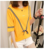 Discount Yellow 2017 Women Plus Size T Shirt Ladies Short Sleeve Casual T Shirt Big Size Summer Tops For Woman Intl