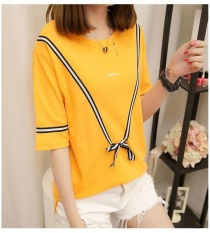 Sale Yellow 2017 Women Plus Size T Shirt Ladies Short Sleeve Casual T Shirt Big Size Summer Tops For Woman Intl China Cheap