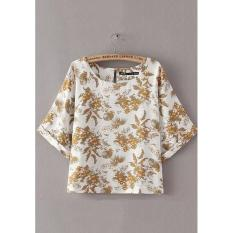Compare Prices For Yellow Print Blouse