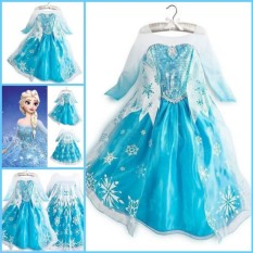 Compare Price Yika Kids Frozen Elsa Princess Costume Queen Cosplay Girls Fancy Dress 2 9T Crown Intl On China