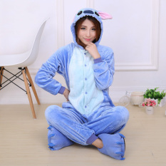 Yika Stitch *d*lt Unisex Pajamas Cosplay Costume Onesie Sleepwear S Xl Blue Price