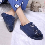 Store Yilee Men Indoor House Slippers Winter Lovers Warm Anti Slip Shoes Soft Cotton Home Slippers Dark Blue Intl Oem On China