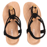 Compare Yingwei Women Summer Sandals Casual Beach Shoes Black Intl