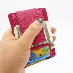 Best Yixiangqing Slim Card Holder Money Clip Front Pocket Wallet Leather Rfid Blocking Thin Wallet Rose Intl