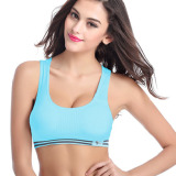 Compare Yoga Sports Bra Crop Top Vest Comfort Stretch Bras Shapewear Blue S M Intl Prices