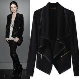 Yohanne Women Long Sleeve Flyaway Open Cardigan Blazer Jacket Black Intl Promo Code