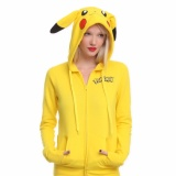 Buy Yohanne Women Pikachu Hoodie Print Long Sleeve Sweatshirt Tops Yellow Intl On China