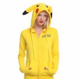 Best Offer Yohanne Women Pikachu Hoodie Print Long Sleeve Sweatshirt Tops Yellow Intl