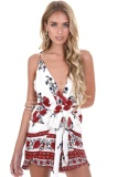 Sale Yoins New Women Plunge Deep V Neck Cami Mini Dress Fashion Floral Backless Strap Dress Casual Tie Waist Beach Vestidos Intl Yoins Cheap
