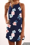 Buy Yoins Women New High Fashion Clothing Casual Sleeveless Round Neck Floral Pink Dress Top Intl