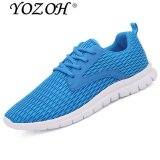 Discount Yozoh Men Outdoor Sport Jogging Running Shoes Sneakers Casual Mesh Breathable Trainers Low Cut Flat Shoes Blue Intl