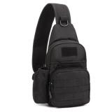 Best Yslmy Men Nylon Sling Chest Bag Military Hiking Shoulder Messenger Sports Back Pack Black Intl