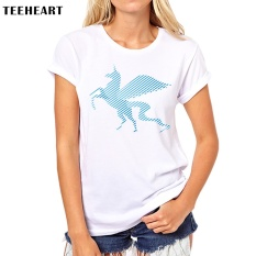 How To Buy Yuandi Custom Unicorn Kawaii Slim Women Round Neck Short Sleeve Print Female White T Shirt Tops Tees 10 Intl