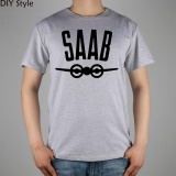 Wholesale Yuandi Diy Saab Scania Plane T Shirt Top Lycra Cotton Men Short T Shirt Design Digital Inkjet Printing Grey Intl
