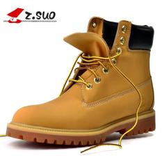 Low Cost Z Suo Men S Waterproof Work Boot Pu Leather Shoes Yellow Intl