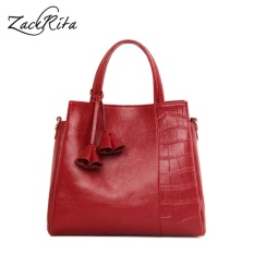 Where To Shop For Zackrita Genuine Leather Women Handbags 2017 New Fashion Brands Alligator Messenger Bags Large Size Tote Bag B79 Red Intl