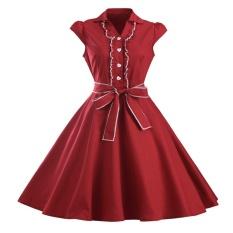 Discount Zaful Fashion Vintage New Arrival Summer Style Retro Condole Belt 50S Dress Woman Fashion Print Flared Dress Intl Zaful On Singapore
