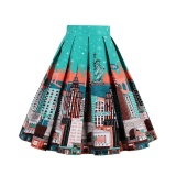 Zaful Pleated Skirts Womens Summer Swing Skirt Mountain Gorgeous Print Vintage Floral Midi Vintage Plus Size Skirt Intl On China