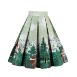 Sales Price Zaful Pleated Skirts Womens Summer Swing Skirt Mountain Gorgeous Print Vintage Floral Midi Vintage Plus Size Skirt Intl