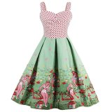 Buy Zaful Woman Vintage Dresses Floral Print 1950S Style Patchwork Backless Cute Summer Party Women Dress Vintage Dress Multicolor Intl On China