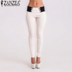 Zanzea 2017 Autumn Casual Slim Fitted Women Skinny Pants Pencil Leggings Mid Waist Ankle-Length Trousers Plus Size Xs-3xl White - Intl By Zanzea Official Store.