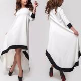 How Do I Get Zanzea Autumn 2016 Fashion Womens Patchwork Asymmetrical Dress 3 4 Sleeve O Neck Vestidos Plus Size S 5Xl
