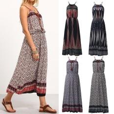 Shop For Zanzea Beach Summer Dress Women Boho Fashion Maxi Long Dresses High Waist Print Casual Loose Sleeveless Vestidos(Blue Floral) Intl