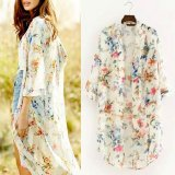 Zanzea Bohemian Kimono Casual Loose Long Cardigan Ladies Chiffon Blouses Shirts Smock Women Vintage Outwear Tops Plus Size White Intl Coupon Code
