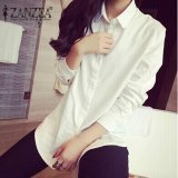 Compare Price Zanzea Fashion Spring Women Blusas Casual Loose Buttons Long Sleeve Blouses Turn Down Collar Shirts Tops Plus Size S 5Xl White Intl On China