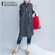 Price Zanzea Fashion Women Stripe Long Sleeve Long Shirt Blouse New Autumn Loose Casual Tops Blusas Dresses Vestidos Plus Size Intl Zanzea China