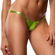 Zanzea Hot Women V String Leather Thongs Panties Knickers Lingerie Underwear T Back Fluor Green Price Comparison