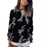Who Sells Zanzea Value For Money Retro Floral Print Shirt Blouse Loose Long Sleeve Women See Through Tops Casual Floral