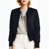 Lowest Price Zanzea Winter Women Bomber Hoodies Coats 2016 Cool Stand Collar Long Sleeve Short Padded Jackets Sweatshirts Biker Outwear Black