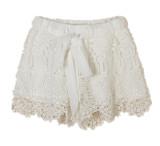Buy Zanzea Women Elastic High Waist Lace Short Pants White 3Xl