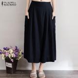 Best Deal Zanzea Women Fashion Linen Pants Casual Loose Trousers Black Intl