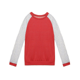Low Cost Zanzea Women Lace Long Sleeve Round Neck Blouse Red