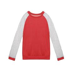 Get Cheap Zanzea Women Lace Long Sleeve Round Neck Blouse Red