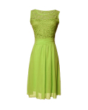 Where To Buy Zanzea Women Lace Sleeveless Party Mini Dress Princess Wedding Formal Cocktail Green Intl