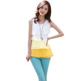 Wholesale Zanzea Women Sleeveless Chiffon Tank Tops Vest Blouse Tiered Blouse Yellow