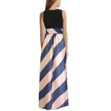 Compare Prices For Zanzea Womens Boho Casual Stripe Long Dress Evening Party Maxi Chiffon Skirt Intl