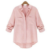 Cheapest Zanzea Womens Button Down Collar Loose Linen Shirt Online
