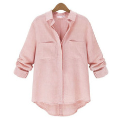 Sale Zanzea Womens Button Down Collar Loose Linen Shirt Online On China
