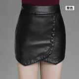 Shop For Zblan Stitching Leather Skirt Plus Sized Shorts Leather Shorts
