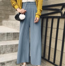 Recent Zh Lady Chiffon A Pleated Slacks With High Waists And High Waists And Slacks Of Baggy Slacks Blue Intl