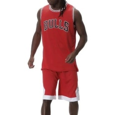 Best Reviews Of Zh Men S Sports Wear Basketball Suit Competition Training Kit With Letter Jerseys Red Intl