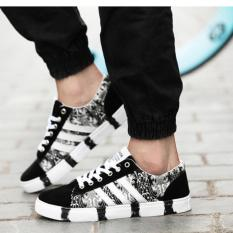 Sale Zh Shopping Men Camouflage Leisure Fashion Canvas Shoes Black Intl Online China