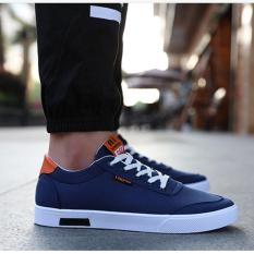 Zh Shopping Men S Fashion With Canvas Shoes Blue Intl Cheap
