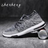 New Zhenheng 2017 Men Trend Breathable Flying Woven Shoes Net Yarnlow Running Shoes Black Intl